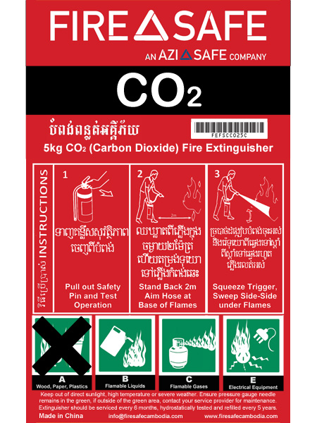 Firesafe Co2 Fire Extinguishers on fire extinguisher diagram