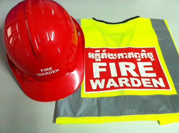 Fire Warden helmet and vest2