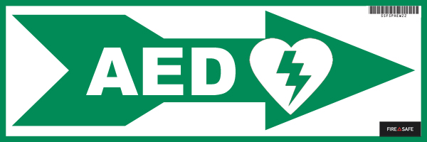 AED Arrow R Green