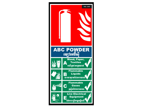 ABC Wall Sign 15cm x 35cm